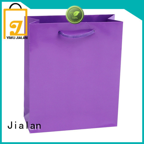 Jialan environmentally friendly colorful gift bags widely applied for clothing stores