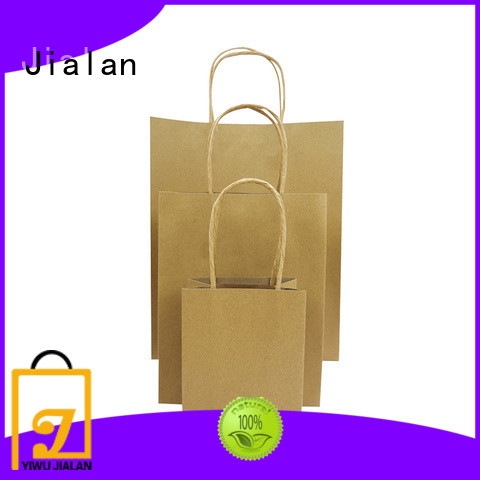 Jialan paper kraft bags perfect for shopping in supermarkets