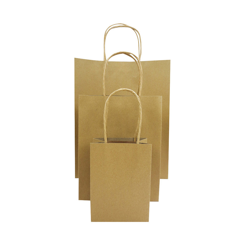 Hot Selling Custom Logo High Quality Kraft Brown Shopping Gift Paper Bag With Handle