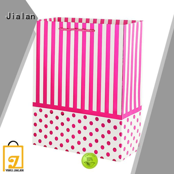 Jialan white paper bags packing birthday gifts