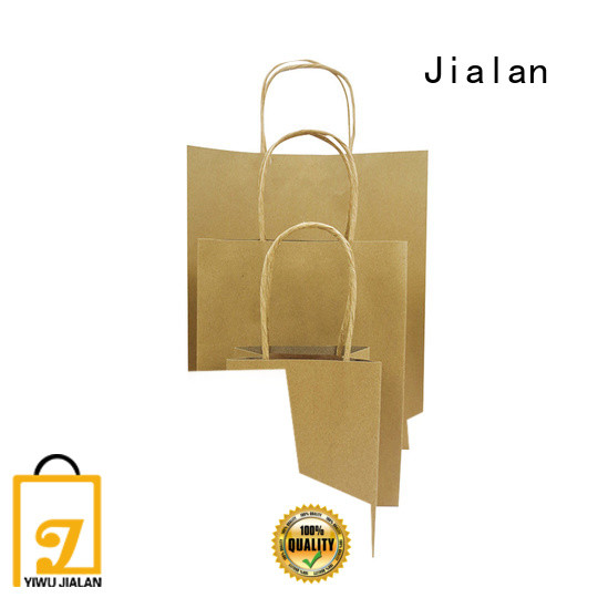 Jialan customized craft paper bags great for supermarket store packaging
