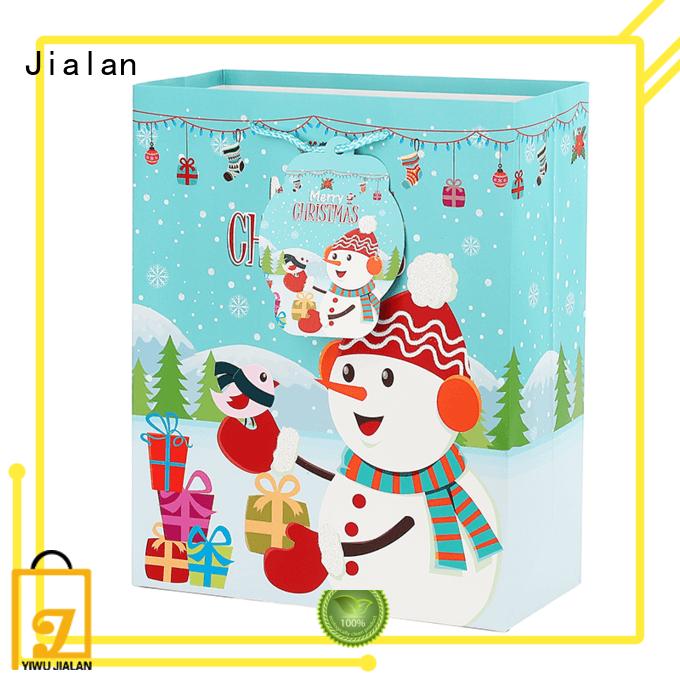 Jialan holiday paper gift bags optimal for christmas presents