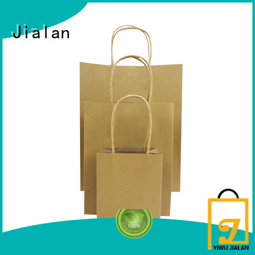 Jialan hot selling brown paper lunch bags supermarket store packaging