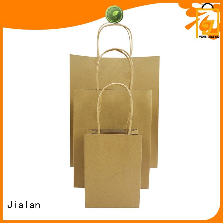 Jialan hot selling kraft paper bags supermarket store packaging
