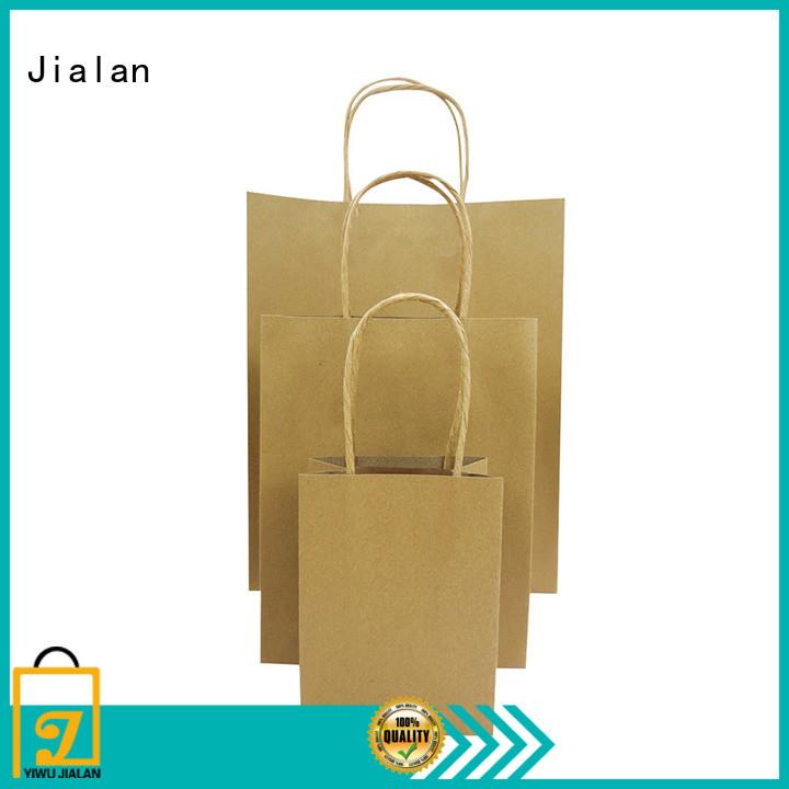 Jialan high grade paper kraft bags satisfying for daily shopping