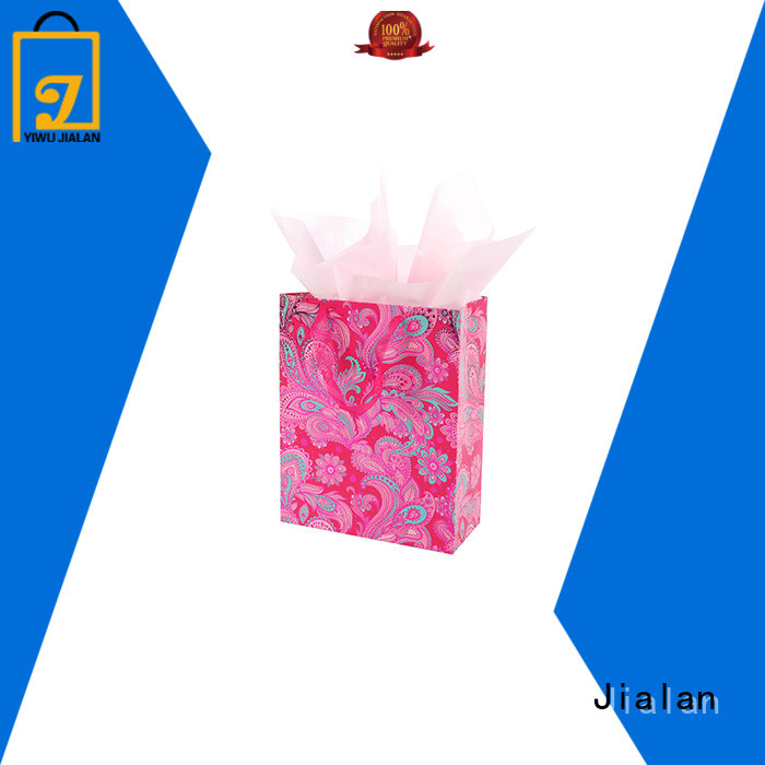 Jialan good quality paper gift bags satisfying for packing birthday gifts