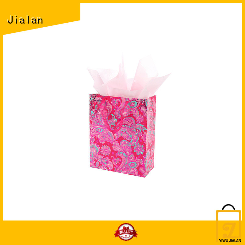 Jialan professional paper gift bags satisfying for packing birthday gifts