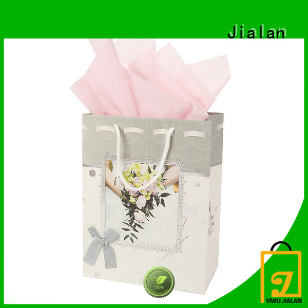Jialan Eco-Friendly paper bags with handles packing birthday gifts