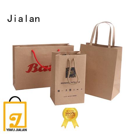 Jialan hot selling kraft gift bags great for supermarket store packaging