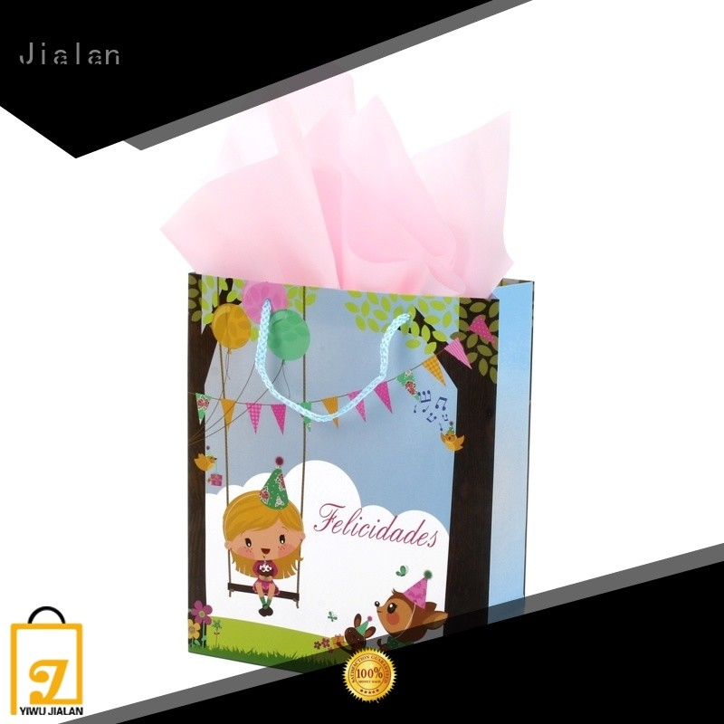 Jialan paper carry bags widely employed for gift packing