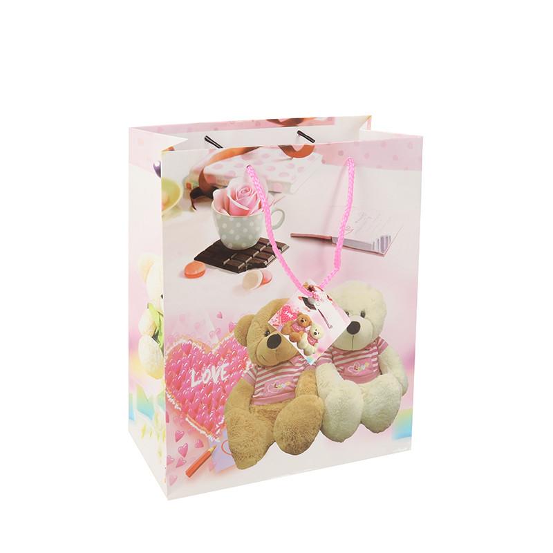 Manufactory Wholesale Custom Luxury Shopping bear girt paper bag