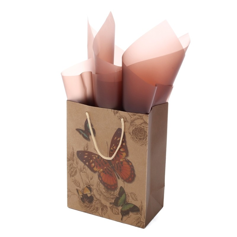 Custom print shopping paper bags with your own logo Fashion Luxury Gift Shopping Paper Bags