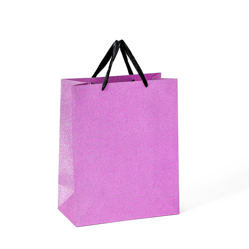Hot Selling Custom Luxury Shining Glittering Lamination Gift Shopping Paper Bag With Handle