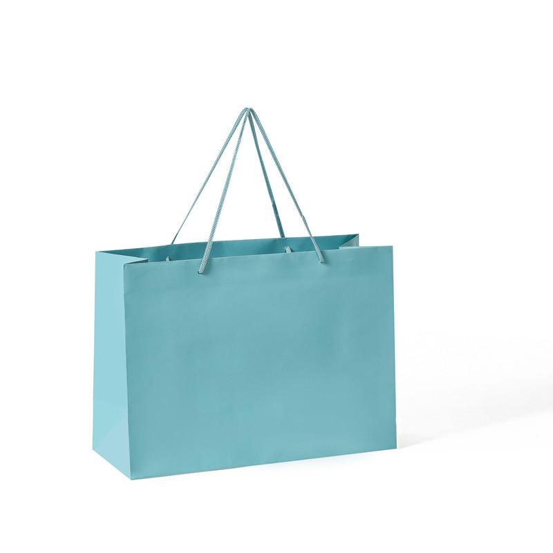 Hot-seller horizontal solid pantone color gift paper bag