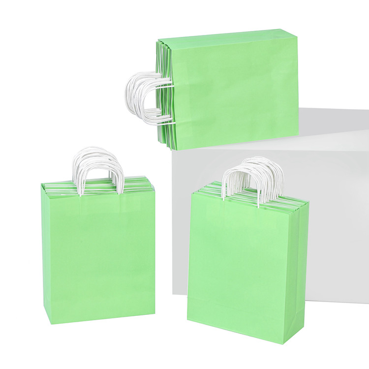 best -seller eco-friendly kraft white avocado color printing gift paper bag