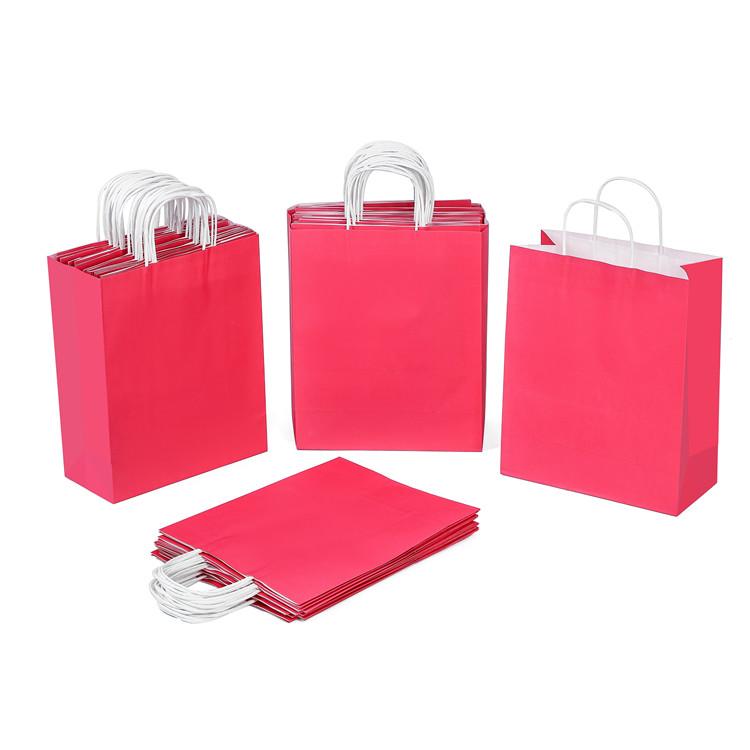 Eco-friendly  kraft white watermelon color paper gift bag