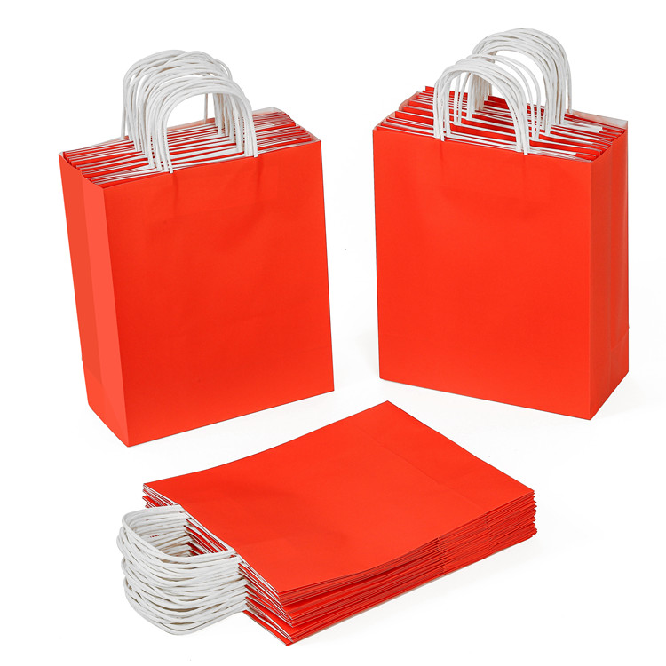 China gift paper bag manufactures customize candy color Kraft paper bag  washable paper shopping bag