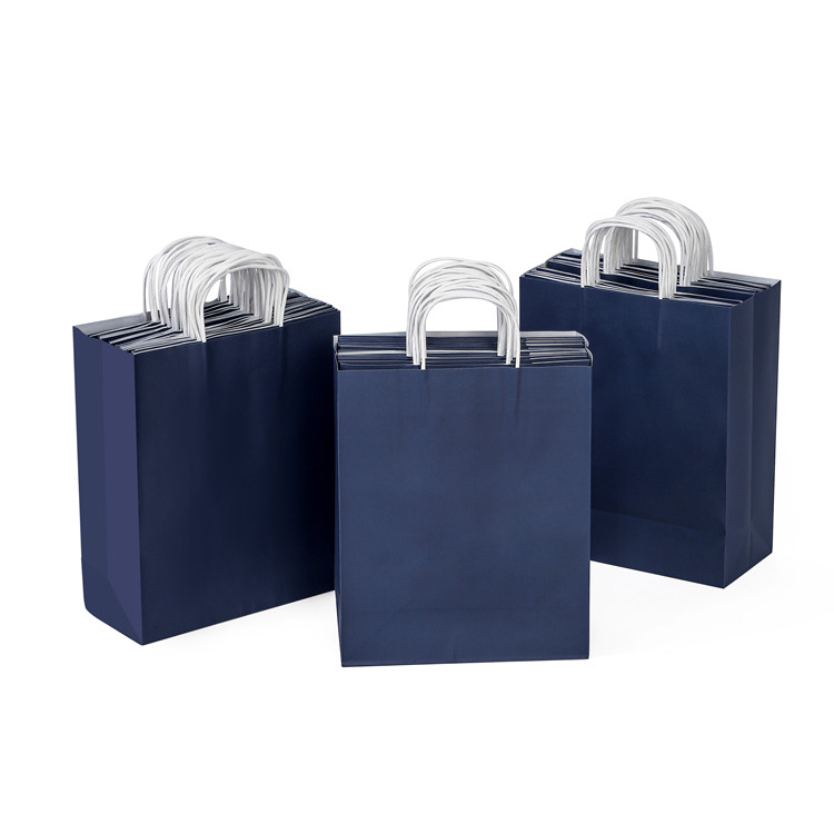 Wholesale colorful foldable paper kraft food gift  bag with handle
