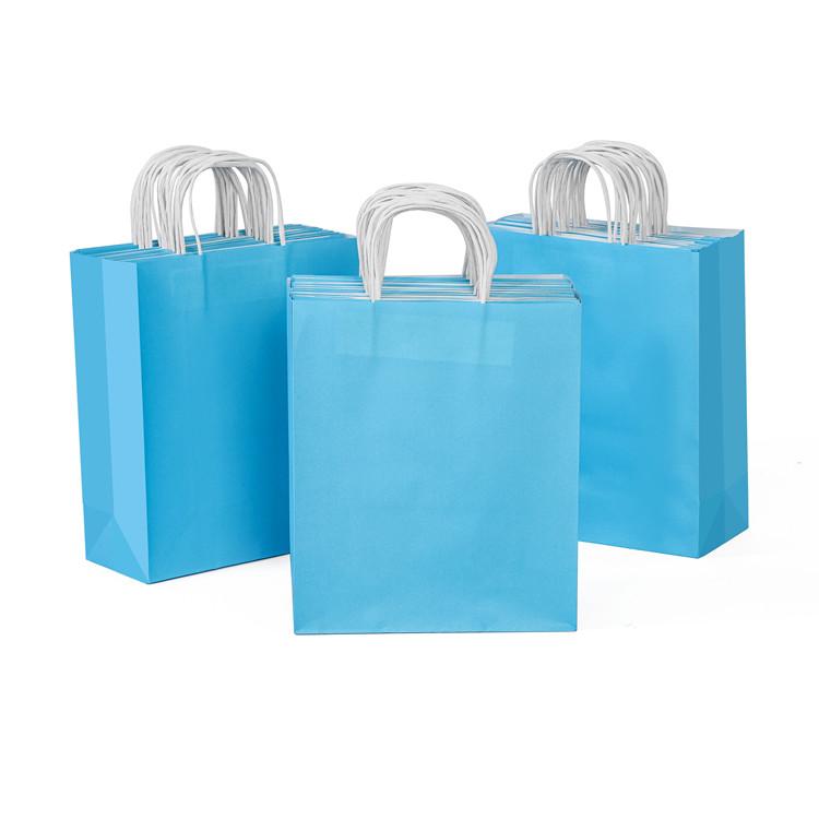 Customized logo design  craft kraft paper handle packing bag