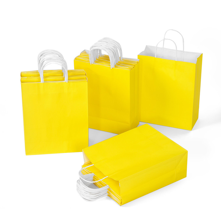 Direct manufacturer yellow color 120g kraft white paper bag