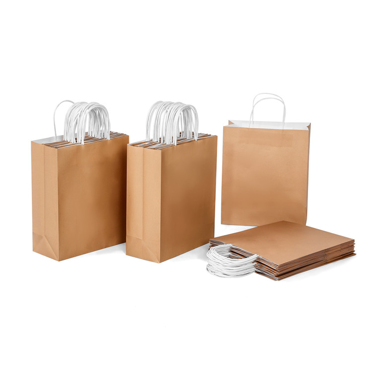 Low MOQ mixed color packing kraft white paper bag