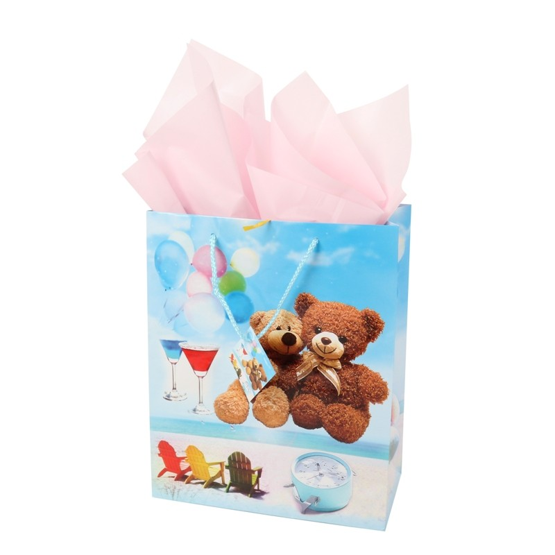 Adorable FSC audit baby gift wrapping paper shopping bag