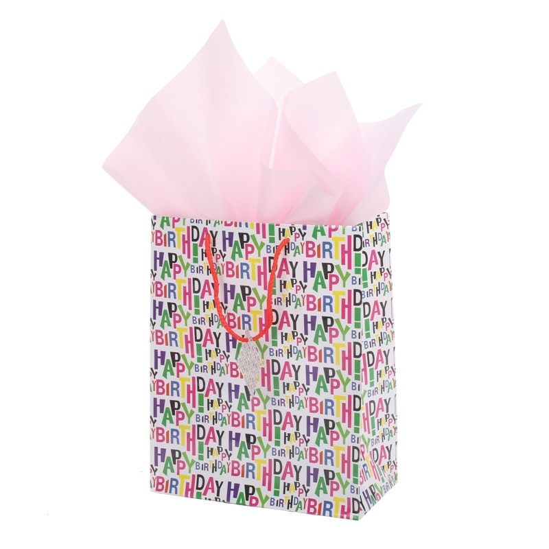 Wholesale bulk price happy birthday gift shopping paper bag for her