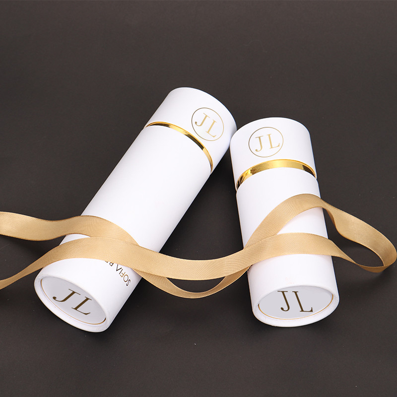 High Quality Personal Customized Hot Stamping Rounded Tube Cardboard Paper Gift Box For Cosmetics