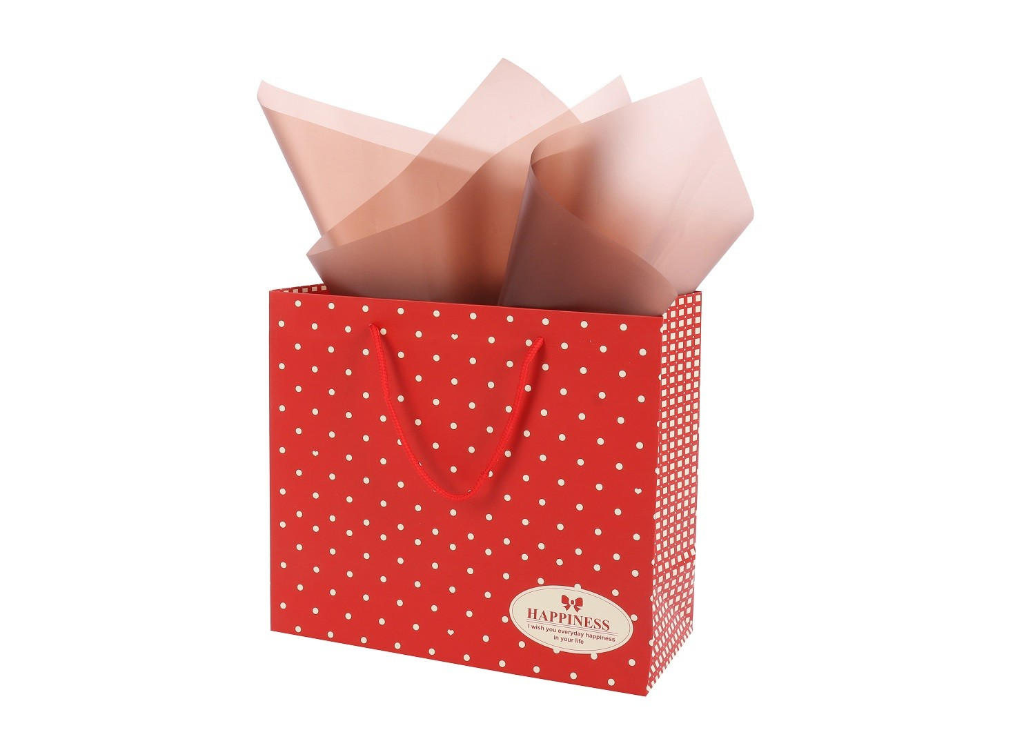 Hot selling 210gsm white ivory paper bags with logo print