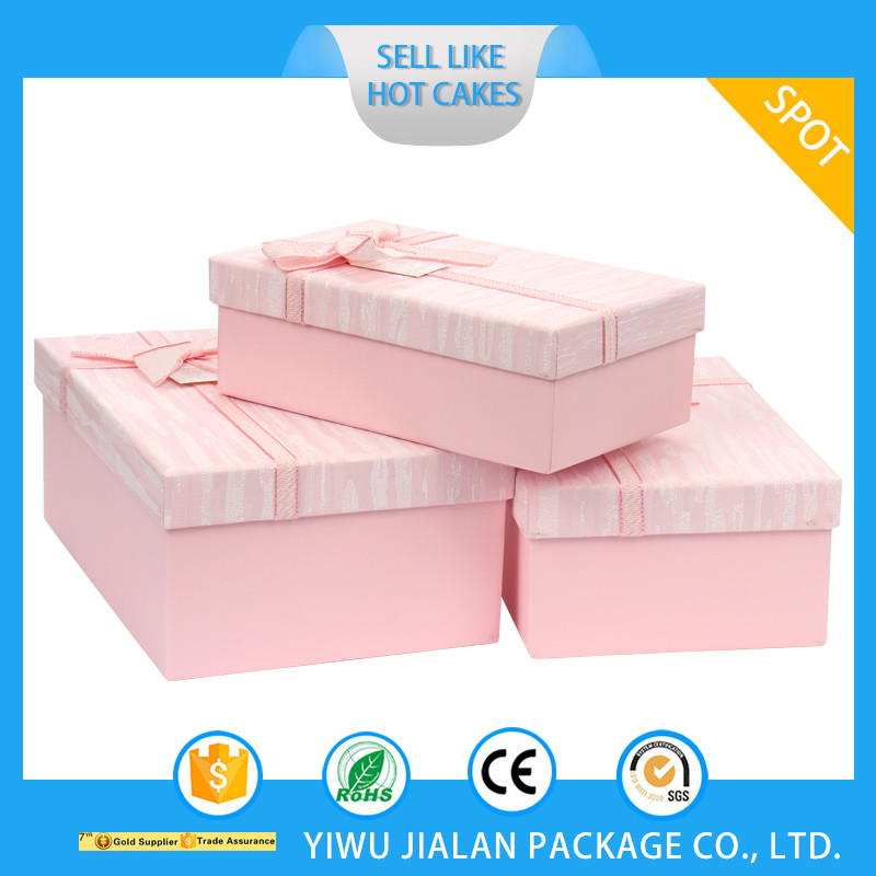 Factory direct sale custom shape Pink Love Recyclable Paper Box Valentine's Day Wedding Christmas Ribbon Gift Packing Box