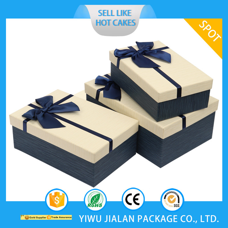Cheap Hot Sale Square Packaging Paper Gift Box Collapsable Flat Packed Paper Gift Box