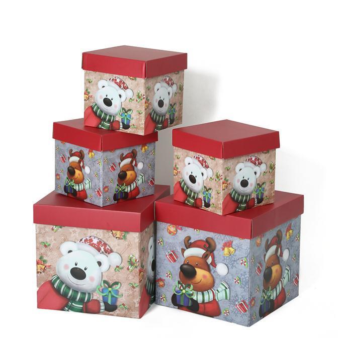 Manufacturer Wholesale Cheap Custom Cartoon Christmas Design Gift Paper Box