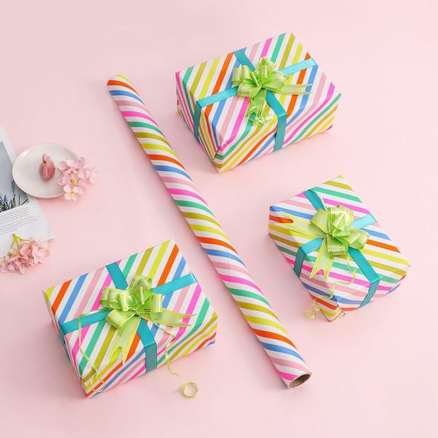 Пользовательская печатная упаковочная бумага в рулоне подарочная упаковочная бумага для подарка на день рождения, праздник, свадьбу