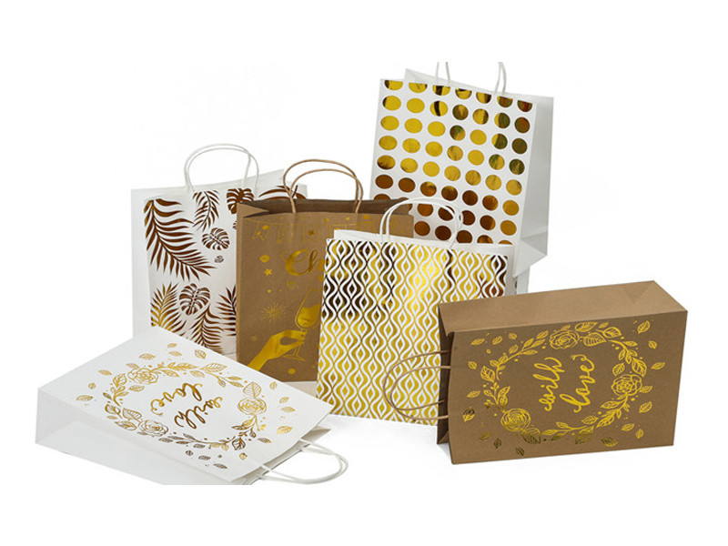 Unusual Promotion kraft paper bag with finishing