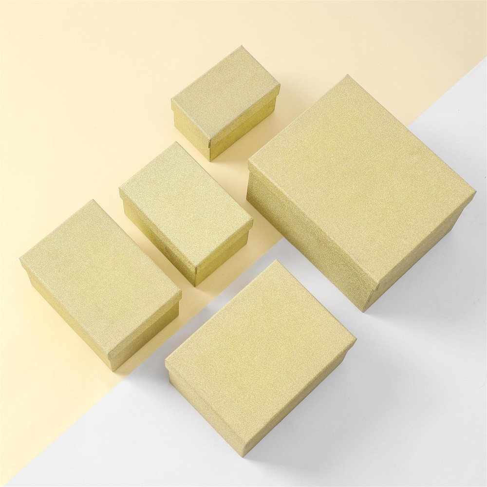 Hot Selling High Quality Glittering Golden Suit Luxury Gift Paper Box