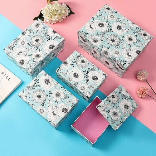 Hand gift box decoration clamshell gift box 10-piece package Box Daisy style World cover gift box