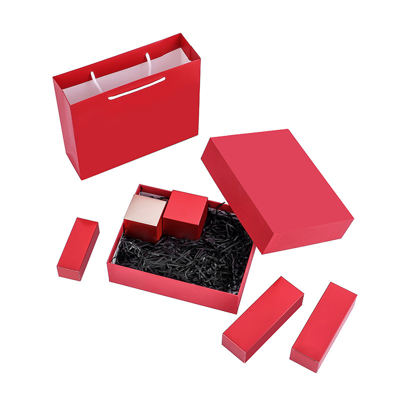 Recycled Custom Luxury Cosmetic Skincare paper gift box paper packaging box setup packing