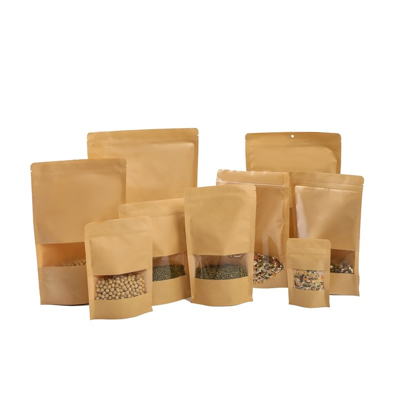 Manufacturer Wholesale High Quality Kraft Paper Bag For Packing Food