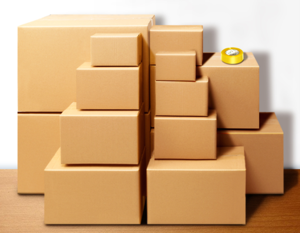 Full Size Wholesale Recycled Corrugated Shipping Cardboard Kraft Paper Packaging Carton