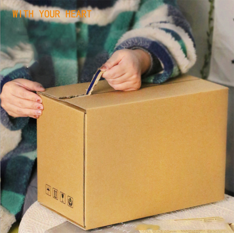 Factory Customized Zipper Carton Without Tape Easy Tearing Mail Order Carton Cosmetic Packaging Corrugated Carton Wholesale