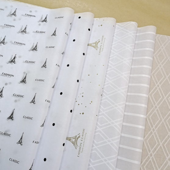 LOGO Customized Factory Wholesale High Quality 17gsm Tissue Paper Customized Size With Printing
