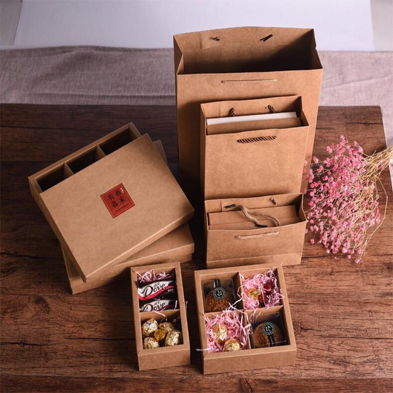 Packing box heaven and earth cover custom multi-grid nine-grid gift box