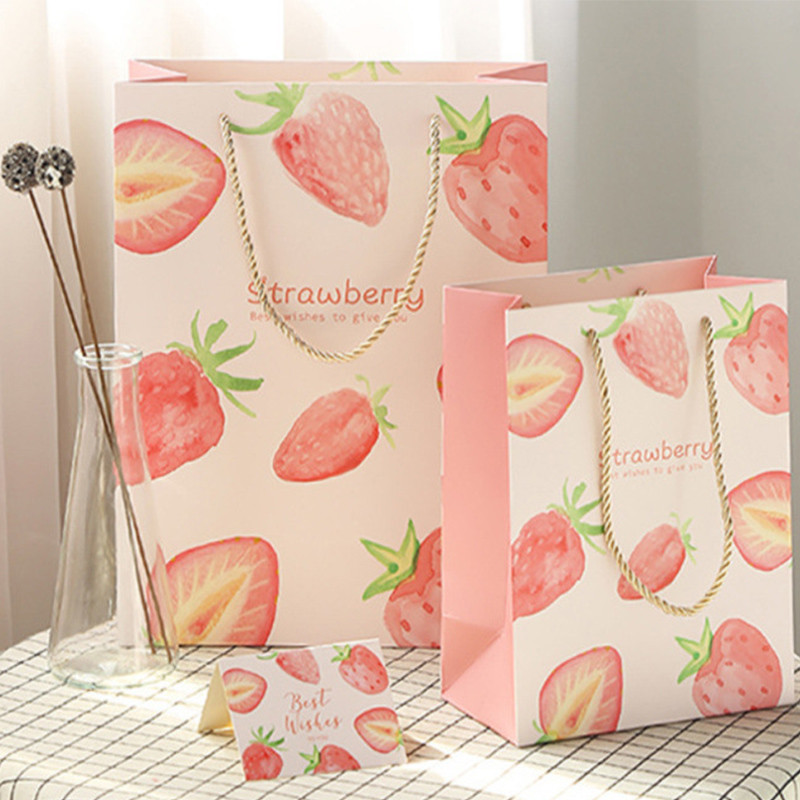 Hand-painted fruit gift bag baked dessert tote bag