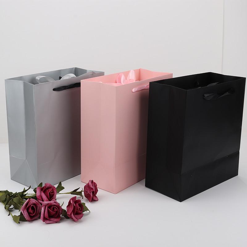 Custom Luxury Clothing Retail Bag Packing Pink Gift Bag