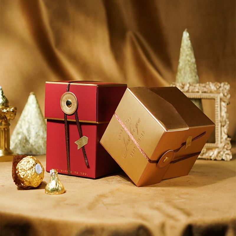 Custom logo Printing wedding invite favor candy box bag packaging