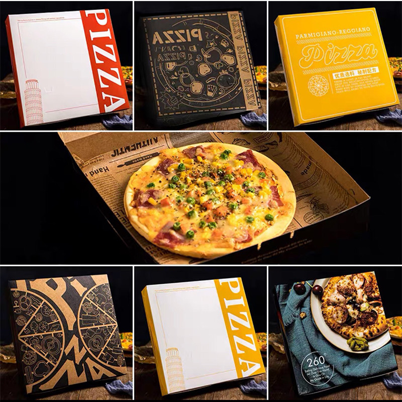 Wholesale Custom logo Printed Cheap Carton takeaway Pizza Packing Boxes
