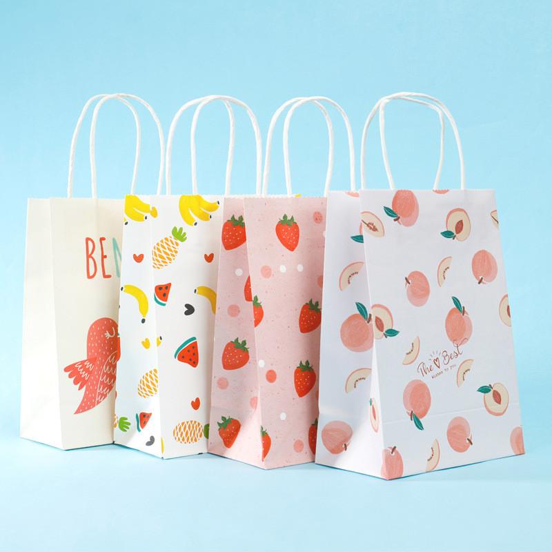 Best Price Customized cartoon creative brown craft paper bag