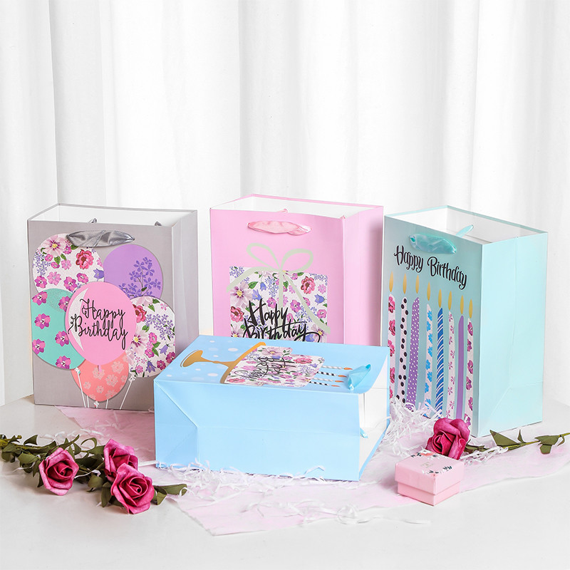 Wholesale high quality birthday design paper bags