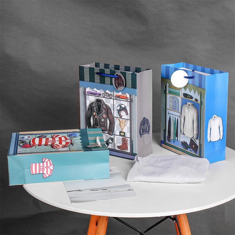 Wholesale Handbags Ivory paper Garment Tote Bag Customized Packaging Bag Gift Shopping Bag Spot