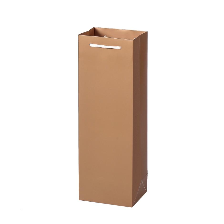 Custom Simple Design Wine Packing Paper Gift Bags
